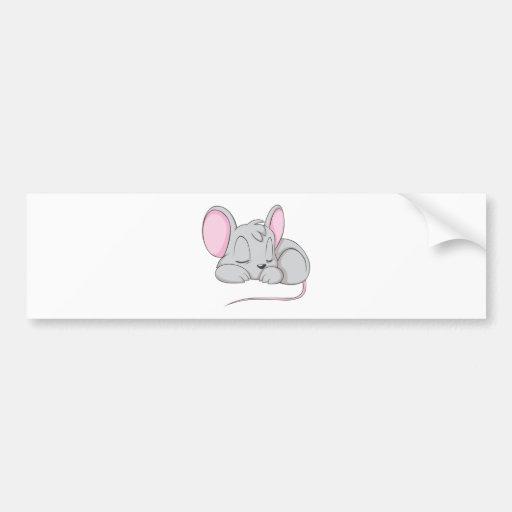 Camisa de la siesta de la rata del ratón del bebé  pegatina de parachoque