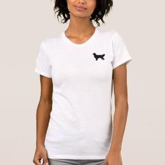 Camisa de la silueta del golden retriever