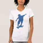 Camisa de la silueta del skater