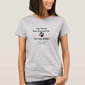 Camisa de la tecnología del veterinario de Punny