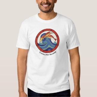 Camisa de la teja del pez volador de la isla de