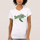 Camisa de la tortuga de mar de la flor del hibisco