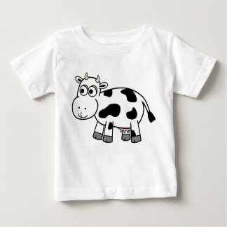 ¡Camisa de la vaca lechera del dibujo animado! Poleras