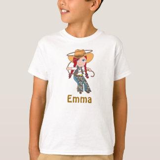 Camisa de la vaquera del Redhead con nombre