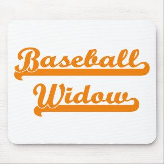 camisa de la viuda del béisbol alfombrilla de raton