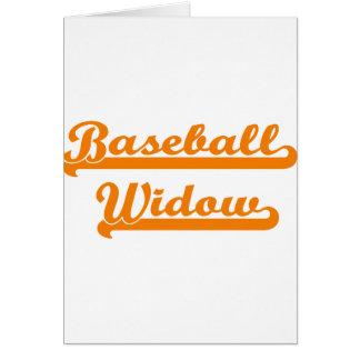 camisa de la viuda del béisbol tarjeta de felicitación