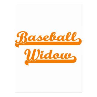 camisa de la viuda del béisbol tarjetas postales