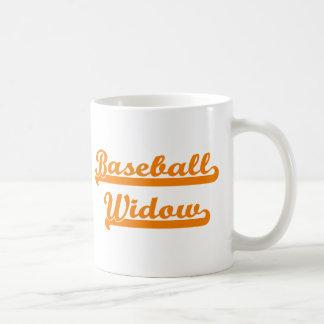camisa de la viuda del béisbol taza clásica