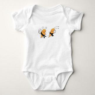 Camisa de las abejas de la correa negra