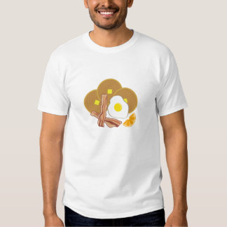 Camisa de las comidas de desayuno - galletas,