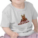 Camisa de las Felices Navidad del reno del niño de