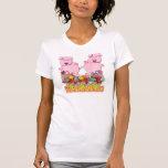 Camisa de las mujeres: 2 cochinillos