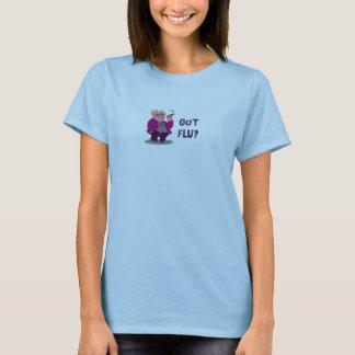 Camisa de las señoras de la gripe de los cerdos