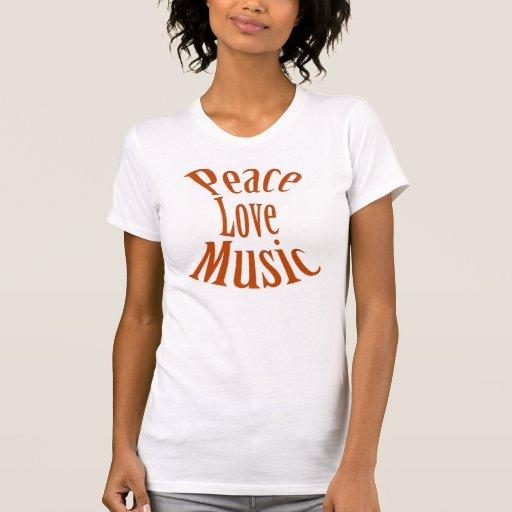 """""""Camisa de las señoras de la música del amor de la"""