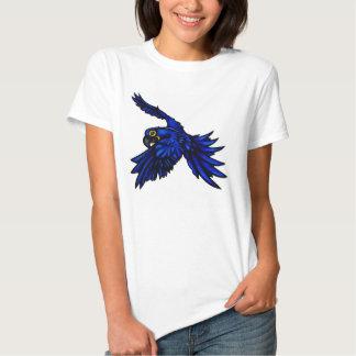 Camisa de las señoras del Macaw del jacinto