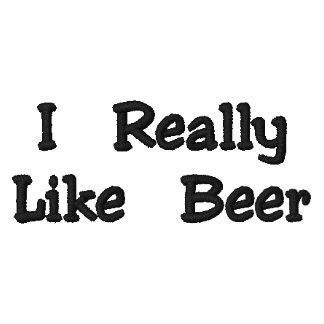 Camisa de los amantes de la cerveza camiseta polo bordada