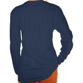 Camisa de los azules marinos con del diseño la par