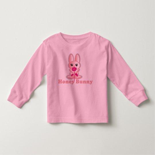 Camisa de los chicas de conejito de la miel