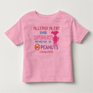 Camisa de los chicas del super héroe de la alarma