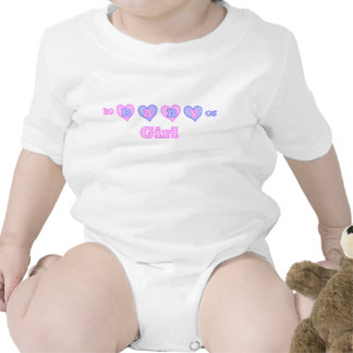 Camisa de los corazones de la niña