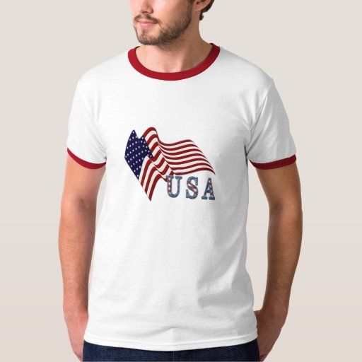 Camisa de los E.E.U.U. de la bandera