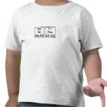 Camisa de los elementos químicos de Nina
