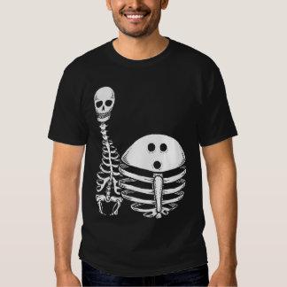 Camisa de los esqueletos de los bolos
