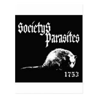 Camisa de los parásitos de la sociedad tarjetas postales