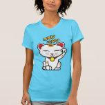 Camisa de Maneki Neko (gato afortunado japonés)