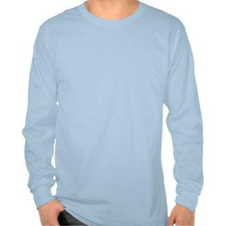 Camisa de manga larga azul clara con lemas