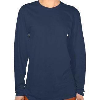 Camisa de manga larga azul del signo de la paz