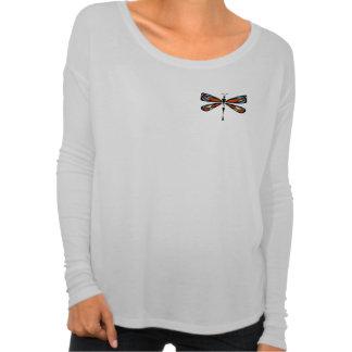 Camisa de manga larga de Flowy de la libélula del