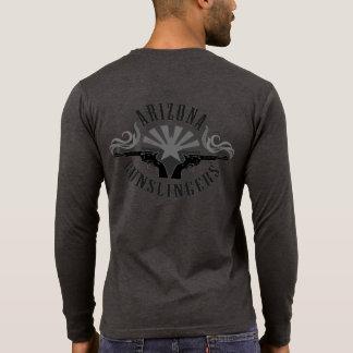 Camisa de manga larga de Henley con el logotipo de