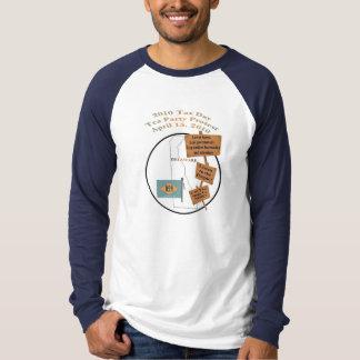 Camisa de manga larga de la fiesta del té del día