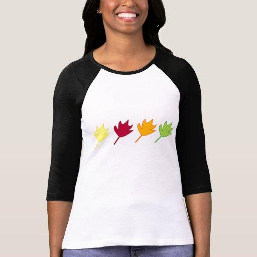 camisa de manga larga de las hojas de otoño