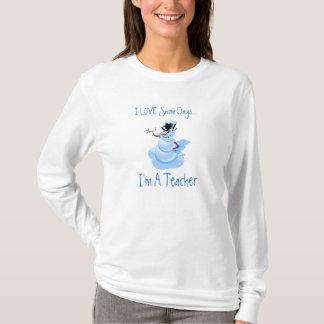Camisa de manga larga de los días de la nieve del