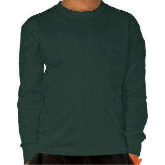 Camisa de manga larga de profesor Cat oscura