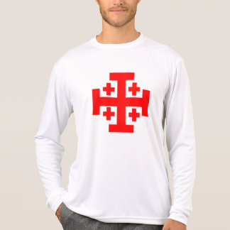 Camisa de manga larga del cruzado