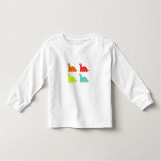 Camisa de manga larga del dinosaurio del niño