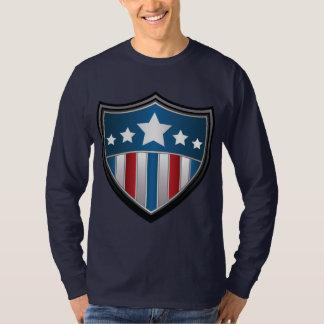 Camisa de manga larga del escudo de la bandera