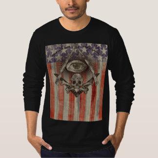 Camisa de manga larga del Freemason de Hiram Abiff