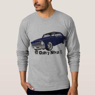 Camisa de manga larga del gráfico de 67 Chevy Nova