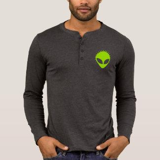 Camisa de manga larga extranjera verde de Henley