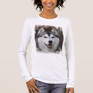 Camisa de manga larga fornida del perro