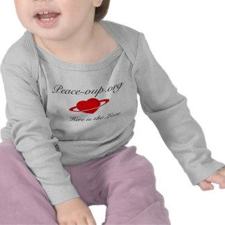 Camisa de manga larga infantil - (blanco)