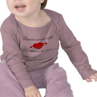 Camisa de manga larga infantil - (rosa)