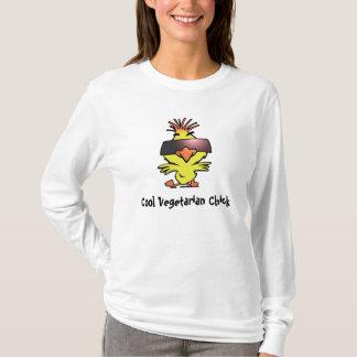 Camisa de manga larga vegetariana fresca del pollu
