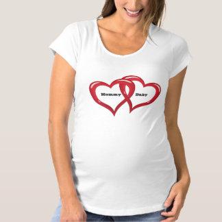 Camisa de maternidad del corazón del bebé de la