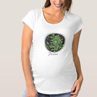 Camisa de maternidad orgánica del signo de la paz