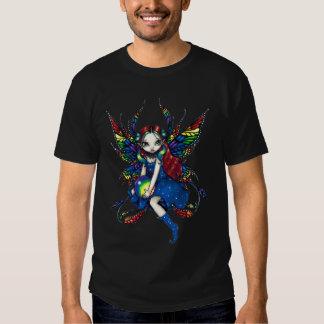 Camisa de medianoche de la hada del arco iris
